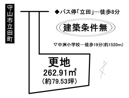 土地 - 滋賀県守山市立田町
