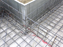 ユニット鉄筋の採用