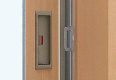 閉め忘れを防ぐ戸先錠